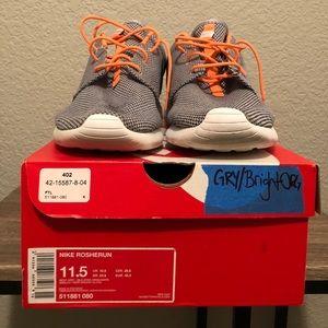 Nike Roshe Run Wolf Grey/Atomic Orange